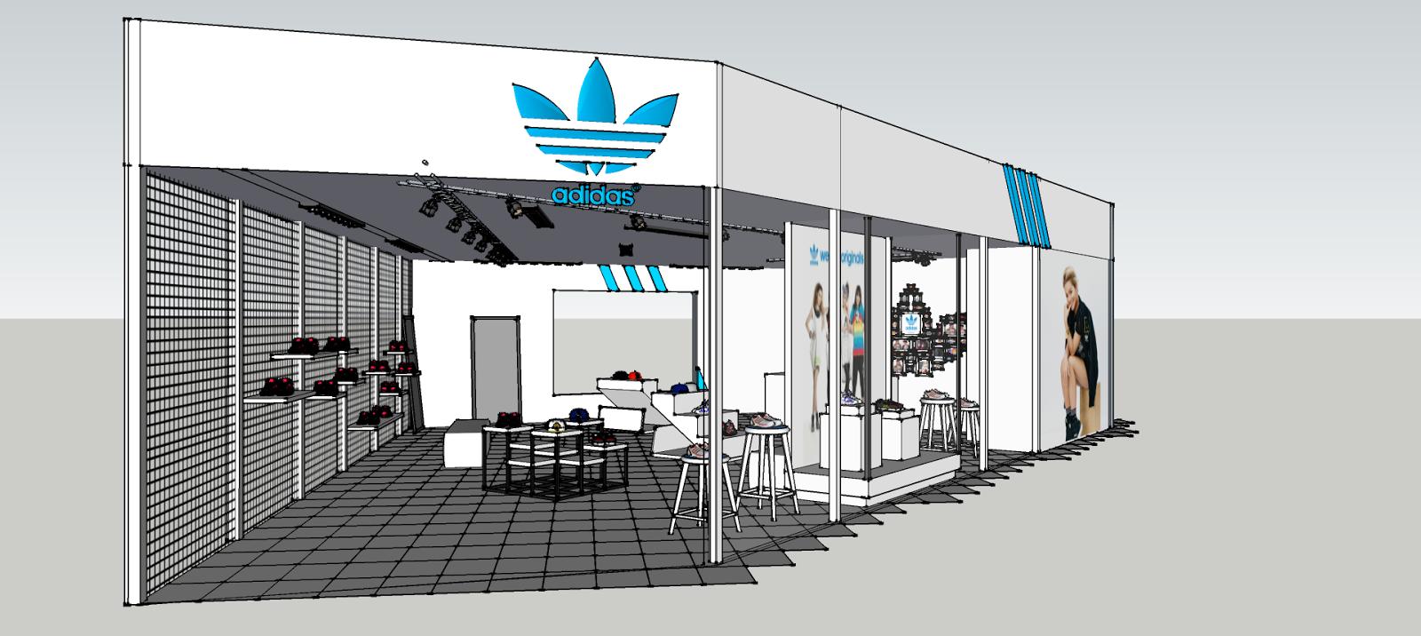 56f46118415a Arts   Interior Design  Adidas Outlet Store Design