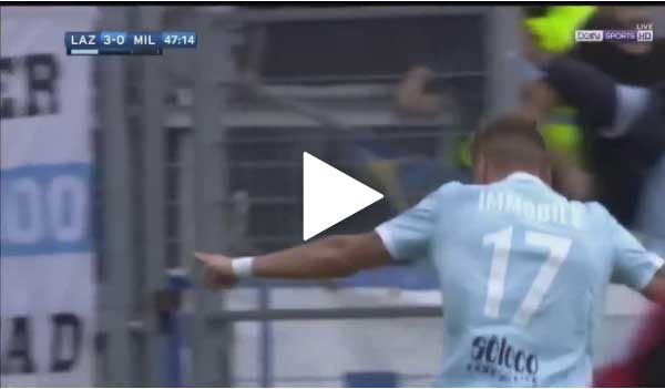 Video Lazio 4 - 1 AC Milan