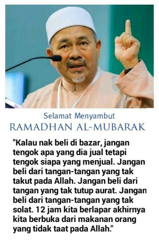 Bertahan Lagi Tak Ke Bazar Ramadhan!