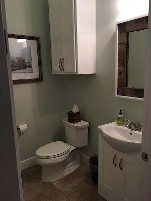 Barnwood Scrap Mirror Frame - Powder Room