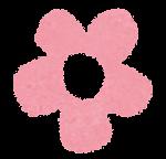 小さな花のイラスト「パステル・ピンク」