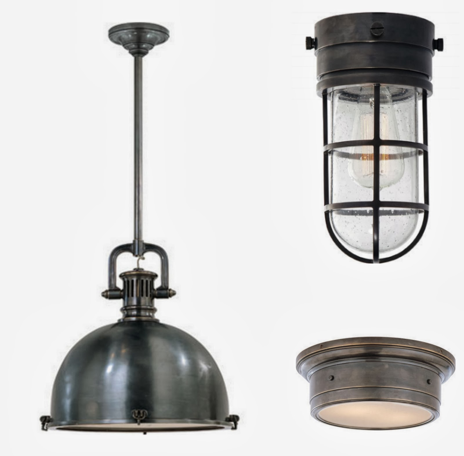 Circa S Yoke Pendant Marine Flush Mount And Siena