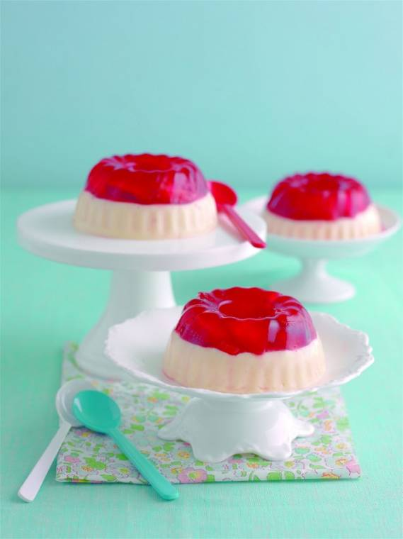 Tiered Strawberry Jelly And Custard