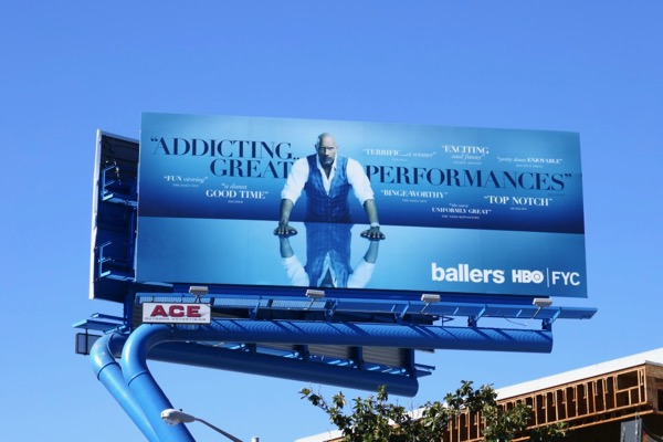 Ballers season 4 Golden Globes FYC billboard