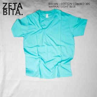 Kaos Polos Biru Muda - Zetabita