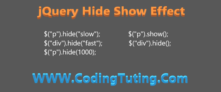 jQuery Hide and Show Effect