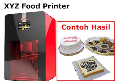 xyz food printer dan hasilnya