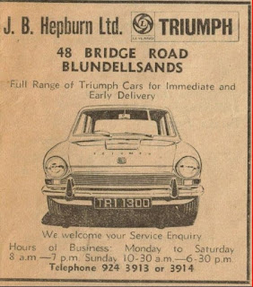 Triumph 1300 advert no2 by J B Hepburn Ltd