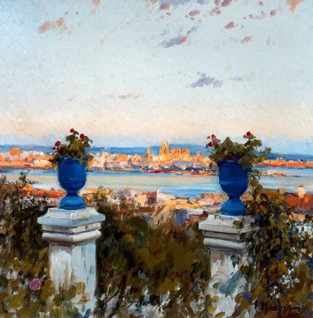 Eliseu Meifrèn i Roig, Bahía de Palma, Mallorca en Pintura, Mallorca pintada, Paisajes de Mallorca, Mallorca en Pintura