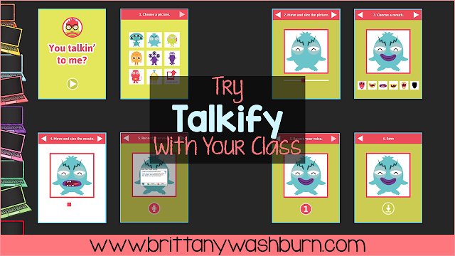 Talkify is an interactive resource from ABCYa.com that is my new favorite tool for my non-readers. After we read a story (this works with any text) I have my students use Talkify to answer some questions about the text. I created a choice board with 9 options, and we usually have time to do 3 of them.