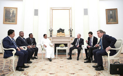 Meeting with President of Sri Lanka Maithripala Sirisena.