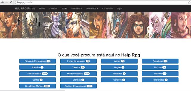 Versão do Help RPG pelo domínio helprpg.com.br. - janeiro de 2016