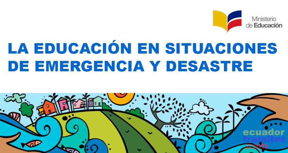 educacion en emergencia