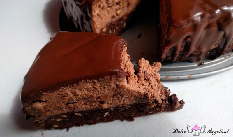 Receta de la Tarta de ferrero con base de brownie
