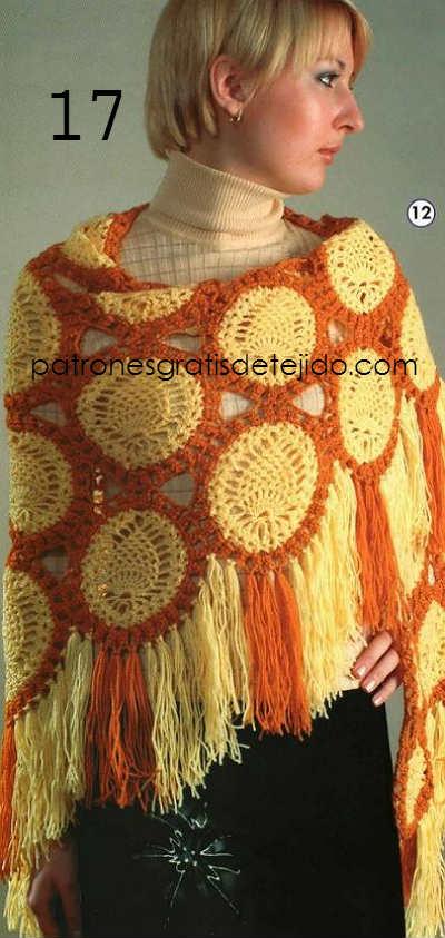 patrones crochet de chal