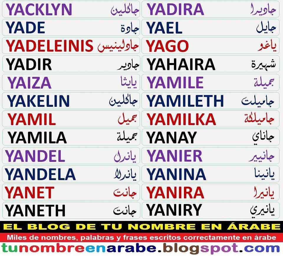 Tu Nombre En árabe Plantillas De Tatuajes Arabes De Nombres X Y