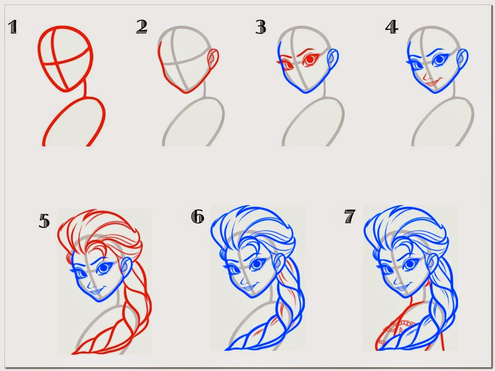 How To Draw A Easy Picture Of Elsa