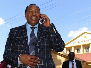 Kabete Mp Ferdinand on call after he was announced to be the winner. PHOTO | Courtesy