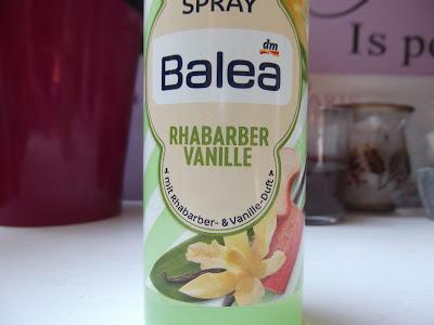 telový sprej  vanilka a rebarbora