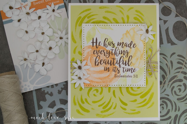 This beautiful any occasion card, was created with the Fun Stampers Journey Printed Rose, and Hope Anchors stamp sets.  Also uses the Designer Series stencil.