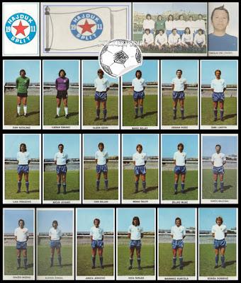 Hajduk Split album sličice Fudbaleri i Timovi 1975/76