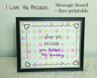 love message frame printable