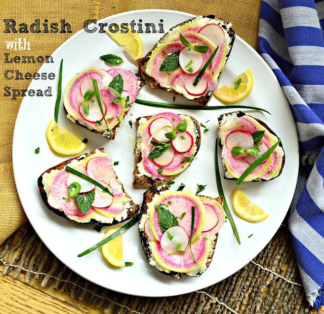 Radish Crostini