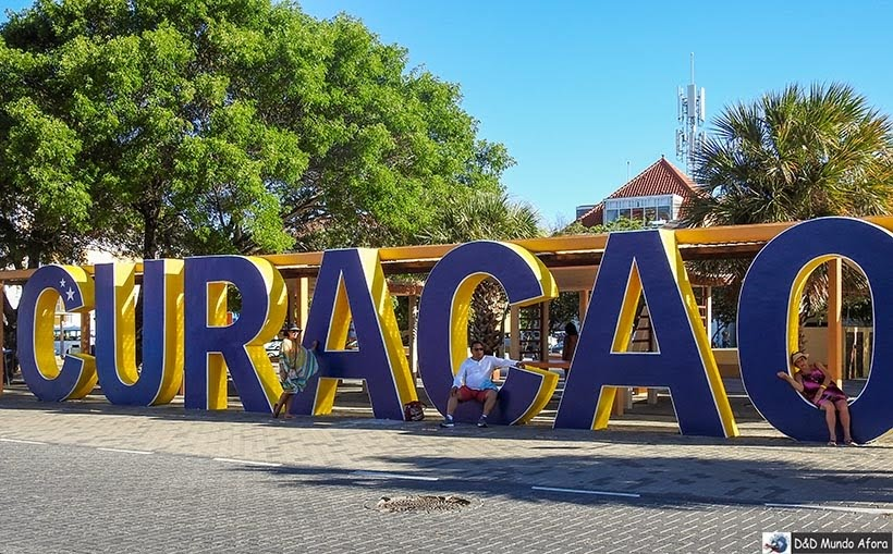 Letreiro Curação - O que fazer em Curaçao