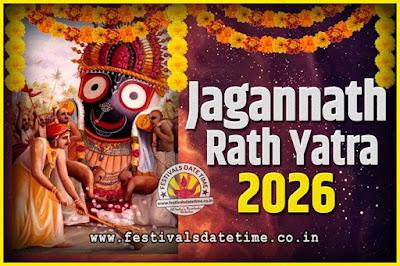 2026 Jagannath Rath Yatra Pooja Date and Time, 2026 Puri Ratha Yatra Calendar
