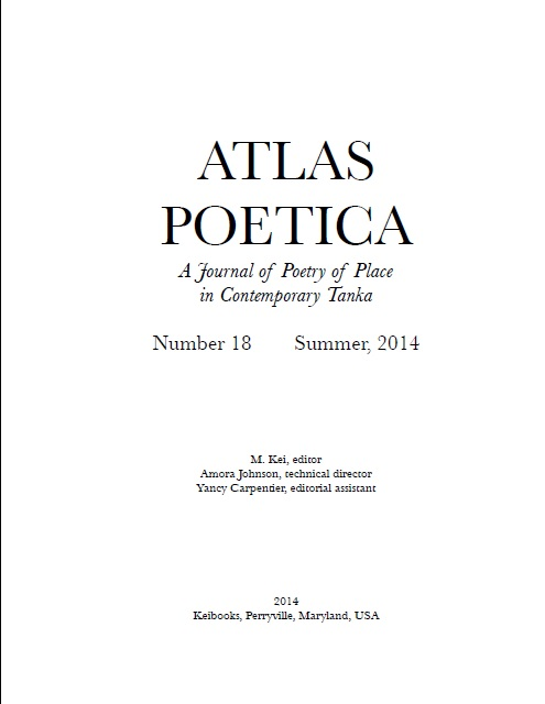 ATLAS POETICA  A journal of Poetry of Place in Contemporary Tanka