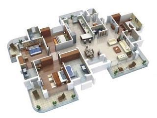 plan banglo 4 bilik