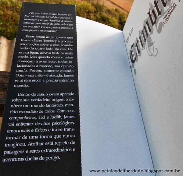 "orelha do livro ""Crimbfuor - Chegada a Atrithar"", Mike Ross, Giostri"