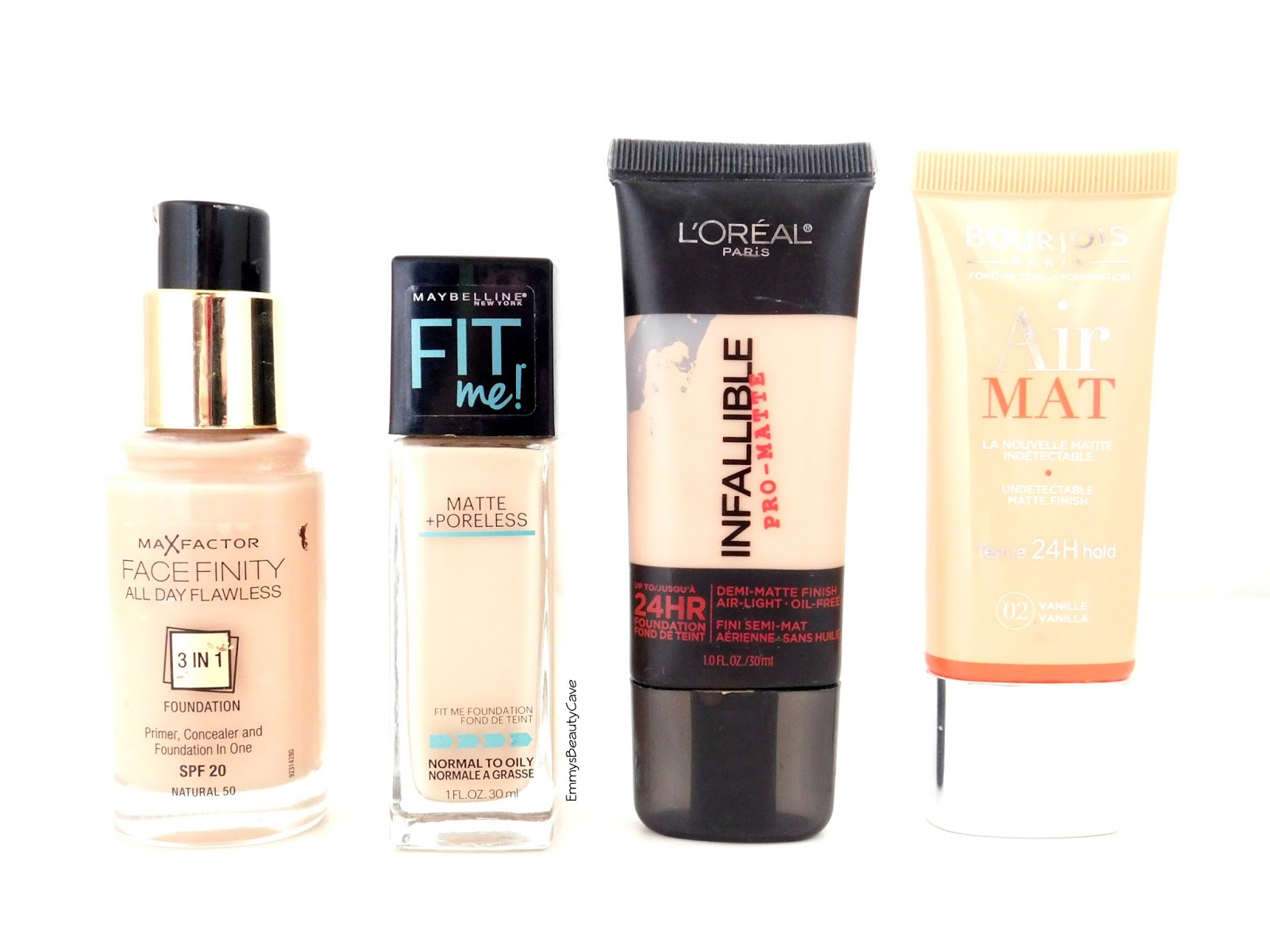 My Top 4 Drugstore Foundations