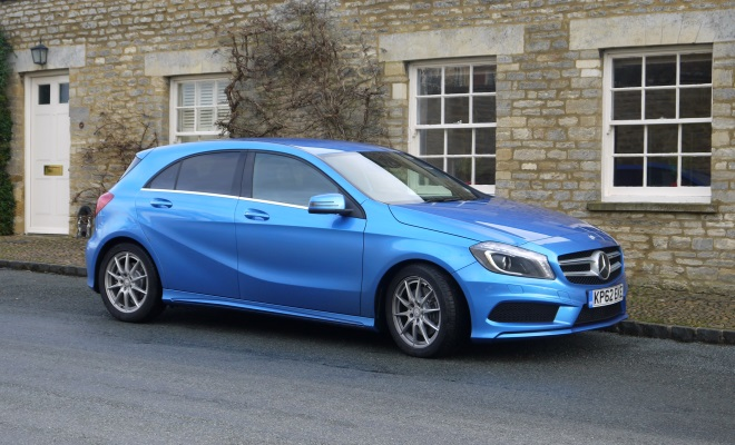 Mercedes A-Class AMG Sport front-side view