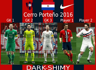 kits Cerro Porteño 2016 update 1 Pes 2013