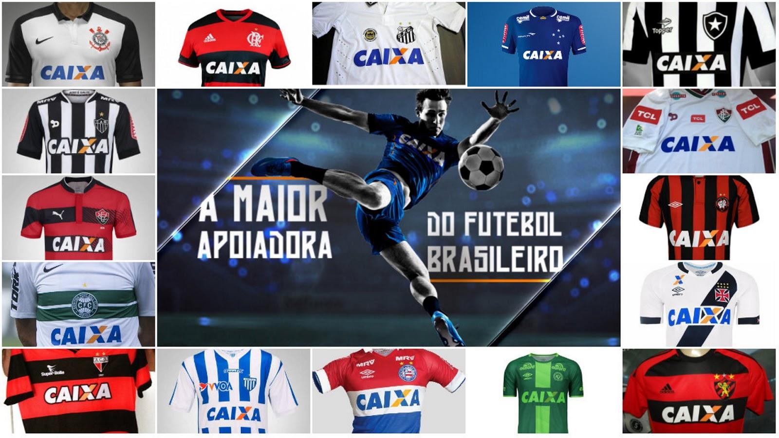 Caixa segue forte como patrocinadora de camisas de clubes brasileiros ede653c8bfa5e