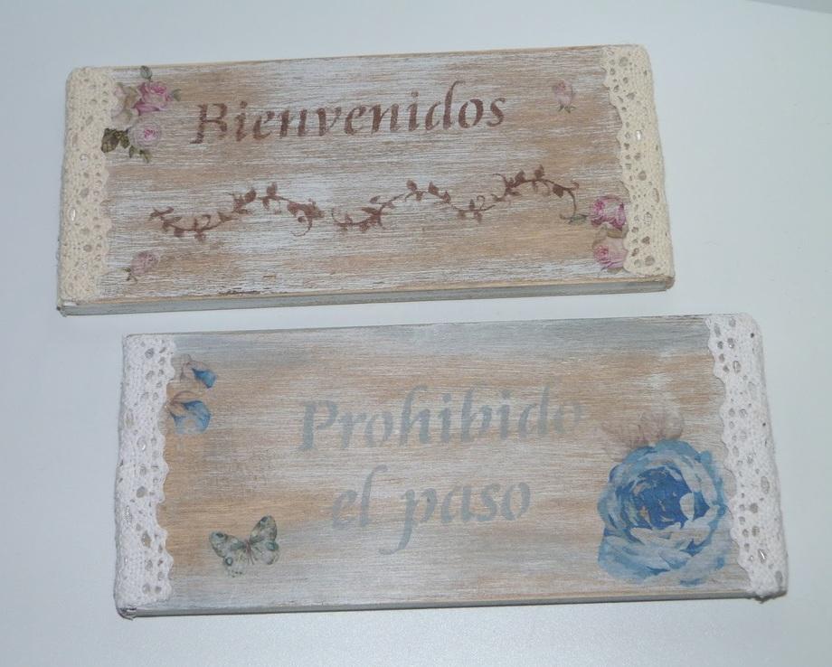 Carteles con tablas recicladas isabel vintage - Carteles retro ...