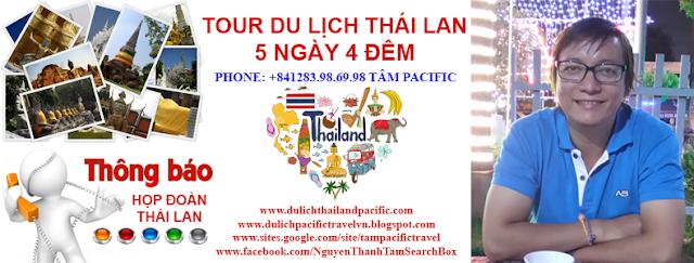 Thông Tin Họp Đoàn Tour Thái Lan Tâm Pacific Travel