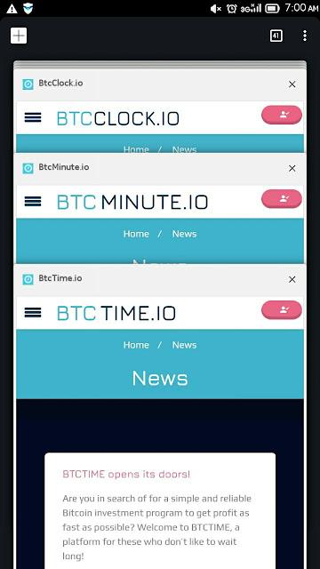 Scam Alert! - BtcClock.io, BtcTime.io and BtcMinute.io - #NotAgain