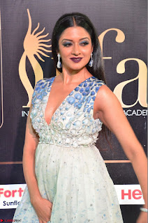 Vimala Raman in a Deep Neck White Shaded Sleeveless Gown ~  Exclusive 45.JPG