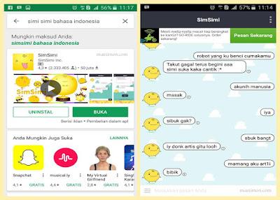 Aplikasi chatting SimSimi yang bisa menjawab otomatis semua pertanyaan