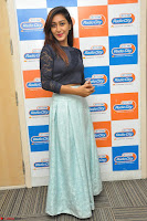 Shravya in skirt and tight top at Vana Villu Movie First Song launch at radio city 91.1 FM ~  Exclusive 36.JPG