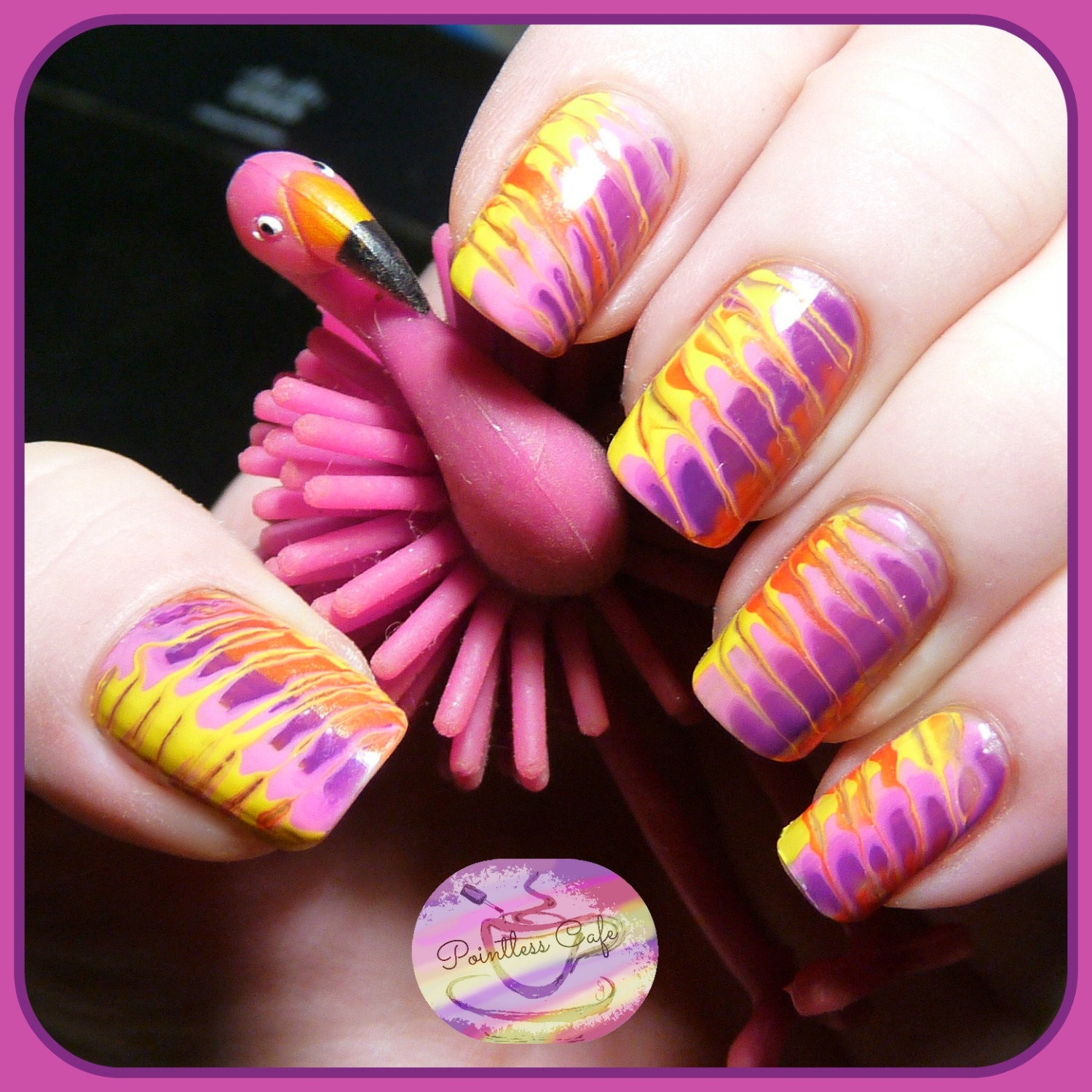 Simple Nail Art Using Toothpick: The Digit-al Dozen Does Summer: Day Five