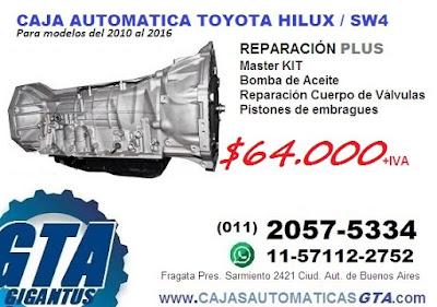 REPARACION Y VENTA DE CAJA AUTOMATICA TOYOTA HILUX SW4