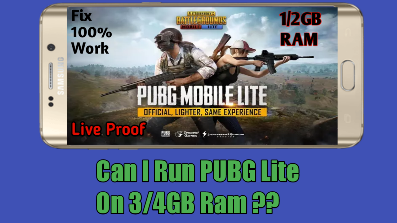 Fix 100% Work | Run PUBG Mobile Lite on 1/2GB Ram| Can I Run PUBG