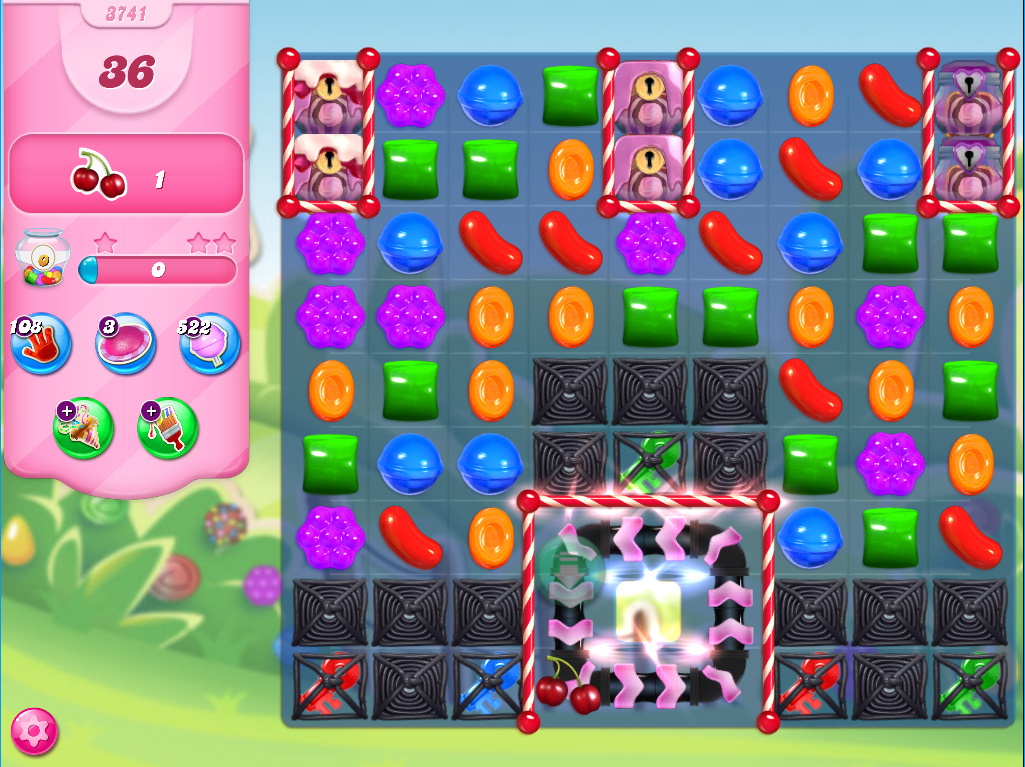 Candy Crush Saga level 3741