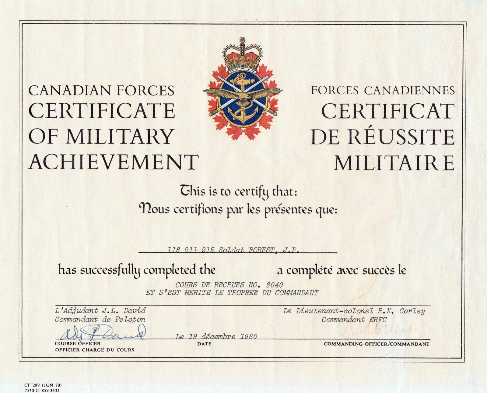 Jean Pierre J P Forest Cpp A Few Certificates