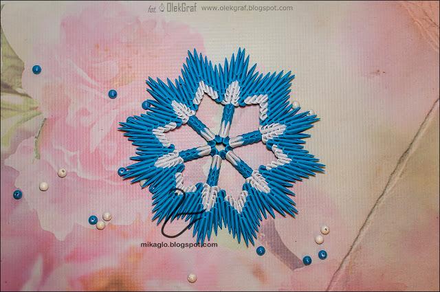 628. Płatek śniegu z origami / 3d origami snowflake