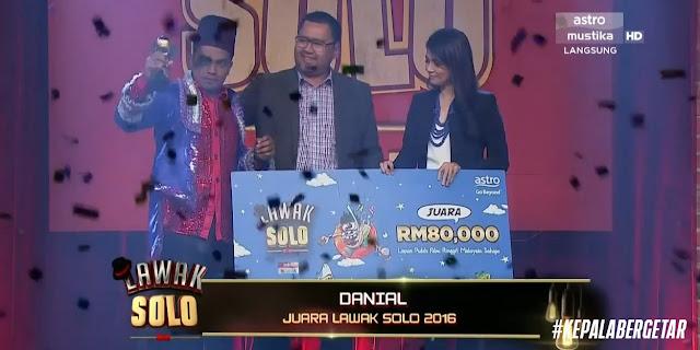 Danial Juara Lawak Solo