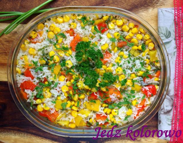 paprykowe risotto zapiekane w piekarniku